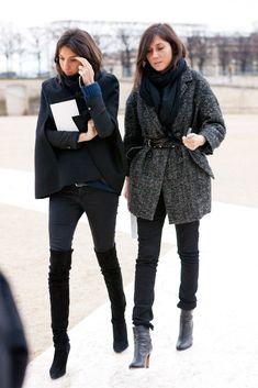 March 6, 2012 Where: With Geraldine Saglio, during Paris Fashion Week.
