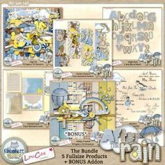 After The Rain: The Bundle - LouCee Creations & Kimberkatt Scraps  #digitalscrapbookingstudio #thestudio