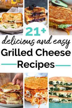 There are some simple ones, some gourmet ones - like the Cranberry Bacon Brie grilled cheese, and some odd ones. Grilled Cheese Recipes Easy, Grilled Cheese Bar, Grill Cheese Sandwich Recipes, Seafood Recipes, Grilled Cheeses, Dinner Recipes, Grilled Menu, Lunch Recipes, Delicious Recipes