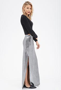 Metallic Maxi Skirt | FOREVER21 - 2049258729