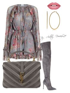 """By AD"" by ashleydomenique on Polyvore featuring Zimmermann, Gianvito Rossi, Yves Saint Laurent and Forever 21"