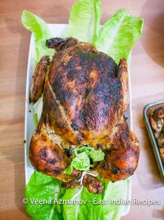 This Stuffed Chicken is made authentic East-Indian style with bacon, carrots, peas, almonds and raisins. Perfect for any celebration like Easter, Christmas Make Ahead Appetizers, Finger Food Appetizers, Easy Appetizer Recipes, Baked Turkey, Roasted Turkey, Roasted Chicken, Roast Chicken Recipes, Meat Recipes, Indian Food Recipes