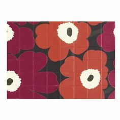 Add some seasonal character to a place setting this autumn. Marimekko Pieni Unikko Fuchsia/Orange PVC Placemat - $26