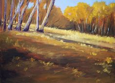 Autumn Hillside Landscape Painting by Nancy Merkle; Original and Fine Art Reproductions
