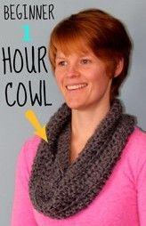 Crochet Beginner 1 Hour Cowl - FYNES DESIGNS