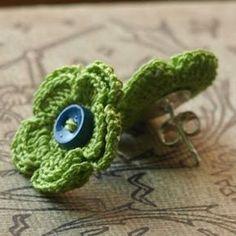 crochet earrings - flower