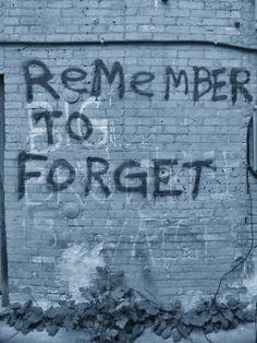 remember to forget blue || graffiti || leonard church