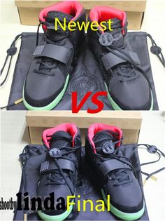 "Comparison!!! Yeezy 2 ""Solar Red"" Final VS Newest & ""Glowing Test"" from ..."