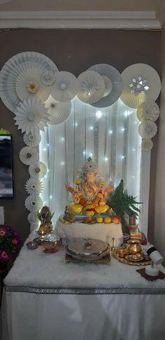 Ganapati Decoration, Decoration For Ganpati, Ganesh Idol, Ganpati Bappa, Decorations, Wallpaper, Phone, Design, Telephone