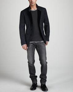 High end fashion for men this piece is a Velvet Dolche & Gabbana Sport Coat