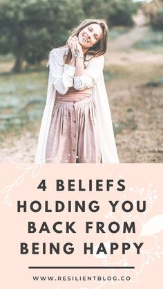 If you're struggling with being unhappy, it's possible that some of your long-held limiting beliefs are actually getting in the way. Here's how to identify limiting beliefs with these 4 examples of hidden beliefs holding you back from being happy. Positive Mindset, Positive Attitude, Positive Living, Life Advice, Marriage Advice, Change Your Mindset, Success Mindset, Mental Health Counseling, Welcome To The Group