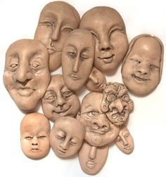 How to Make and Mold a Face Tutorial on Polyclay at http://www.polyclay.com/projects/how-to-make-and-mold-a-face/