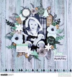 Stamping and Layers using Mint Wishes - Kaisercraft Official Blog