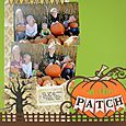 At the Patch - Rutic Fence Border Scrapbooking Layout