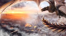 Of Fire and Ice by dizturbed on DeviantArt Arte Game Of Thrones, Game Of Thrones Dragons, Got Dragons, Mother Of Dragons, Fantasy Love, Fantasy Images, Fantasy Art, Dragon Pictures, Dragon Pics