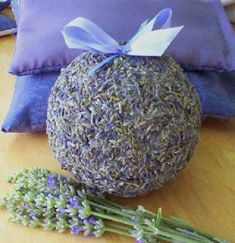 Lavender Balls - thinking of making these for wedding. #LavenderFields