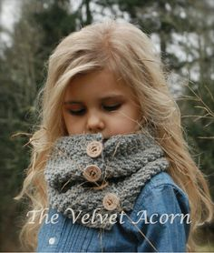 KNITTING PATTERN-Parisian Cowl (Toddler, Child, and Adult sizes) by Thevelvetacorn on Etsy