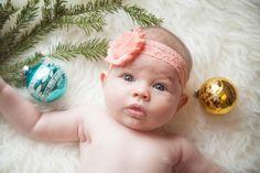 2 Month Old Christmas photo. Emelia Assel Photography. Cameron, Mo.