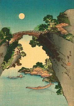 Katsushika Taito II - Monkey Bridge (1810)