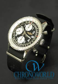 Brand: BREITLING Model: Old Navitimer Strap: NATO (Black 22mm) Owner: M.S. (Saitama, Japan) Purchase this Strap at: http://www.chronoworld.com/watch-straps-bands/military-outodoor-bands-straps/hdt-zulu-ballistic-nylon-strap-2-ring-20mm-22mm-24mm.html #watch #watchstrap #timepieces #quality #chronoworld