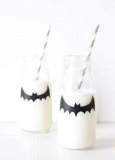 Spooky Milk Bottle Party Favors