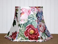 Floral Chintz Bell Lampshade by Sassyshades on Etsy, $95.00