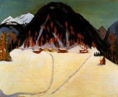 Ernst Ludwig Kirchner - The Junkerboden under snow