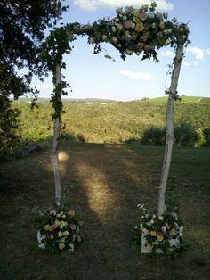 Matrimonio. Arco nuziale country nel chianti. Luglio 2015