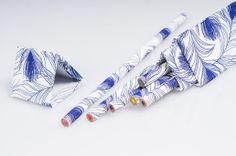 NEW, NEW, NEW. Triangular gift box with six colored pencils. Made in Italy by Rossi 1931. www.rossi1931.com