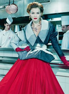 "Carmen Kass in ""A Precious Glam"" Photographed By Miles Aldridge & Styled By Alice Gentilucci For Vogue Italia, March 2011"