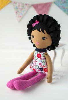 Ballerina Doll, Pink Birthday, Fabric Dolls, Baby Girls, Doll Clothes, Etsy Shop, Toys, Gift, Handmade