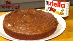 My 3 Ingredient Nutella Fudge Cake is a decadent and over-the-top dessert, perfect for sharing with friends. Nutella is combined with eggs and flour, then baked. Once cool, the cake is topped with ...