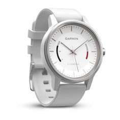 Analog Watch with Activity Tracking. Features a 1-year battery life. Stylish, timeless design. Red move bar and steps displayed on watch face. Counts steps and monitors sleep. Find out more at www.garmin.com.