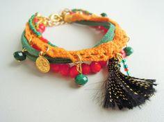 Friendship Bracelet Boho Bracelet Bohemian by ebrukjewelry on Etsy