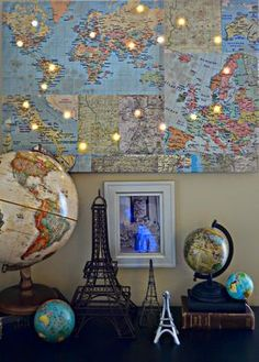 Animal world map print colorful animals ivory and 21st world map wall art what a perfect way to use light in a room alongvisit hazel and ruby for more details gumiabroncs Image collections