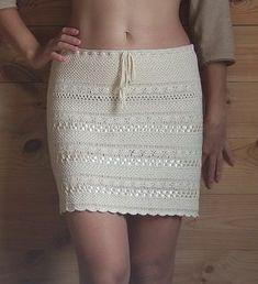 Вяжем крючком) - Летняя юбка