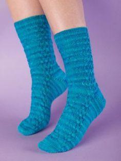 Snowflakes Sock Pattern - Free Knitting Patterns by Kerin Dimeler- Laurence