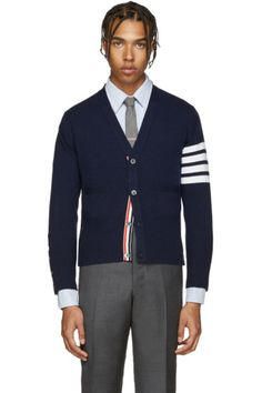 Thom Browne - Navy Cashmere Cardigan