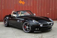 BMW Z8 Bi-Supercharged- love the styling nods to the old 507. tries a little too hard in some of its styling but overall, well done imo.  8.8