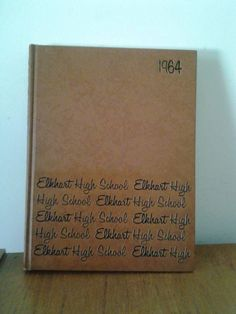 1964  ELKHART HIGH EHS Pennant Yearbook Indiana - Free Shipping
