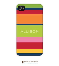 Stacy Claire Boyd-phone | iPhone 4/4S Cases | Summer Stripe 2D