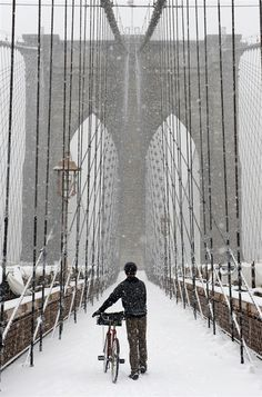 Snow storm blankets New York City, leaving pretty scenes and a sloshy commute (Photo: Justin Lane / EPA) #NYC #NBCNewsStorm