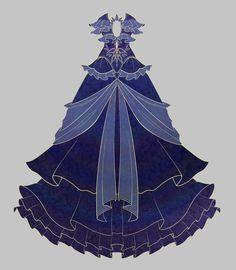Blue Dress Adopt Auction CLOSED by uwwa on DeviantArt
