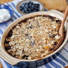 Recipe: Baked Buckwheat Oatmeal with Blueberries & Almonds — But First, Breakfast!