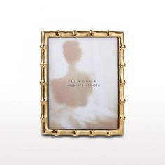 Bamboo picture Frame 8X10 Gold by Nima Oberoi Lunares