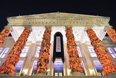 Ai Weiwei- Berlin's Konzerthaus covered in 14,000 Refugee Life Jackets from Lesvos