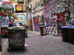 graffiti to be seen in streets like this graffiti alley in melbourne