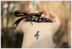 music tattoo - musical note temporary tattoo on wrist