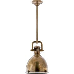 Chart House Small Yoke Pendant in Hand-Rubbed Antique Brass by Visual Comfort & Co. SL5175HAB-HAB2