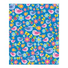 Spring pattern - BlueA great house warming gift indeed! Designed shower curtains can represent anything and anywhere your imagination takes you. Choose a design theme that matches with the rest of your bathroom, or create your own to resemble colors of your wall and floor tiles.Made from polyester.Fitted with 12 holes to hang onto poles. Plastic rings included.Images imprinted using heat dye sublimation technique to prevent discoloring.Machine washable. Do not bleach or machine dry.Includes…